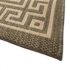 ambiente greek key green bordered rug 2