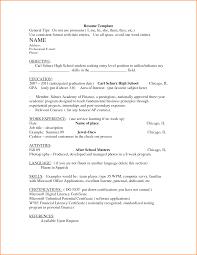 10 Resume Templates For Highschool Graduates Skills Based Resume