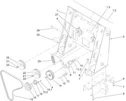 Loader tower and pulley assembly
