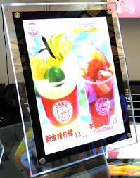 Menu Display Stands Restaurant Crystal led display frame a100 size restaurant stand menu signs 88