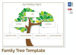 Family Tree Templates Kids Printable Family Tree Template For Kids Strand Quizlet Templates