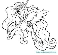 Pony Coloring Pages My Little Pony Princess Coloring Pages Free My