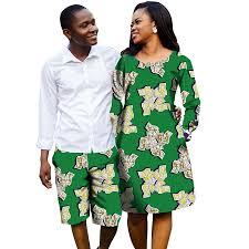 African Trousers Designs African Couple Outfit Women Dresses Men Short Pants Ankara