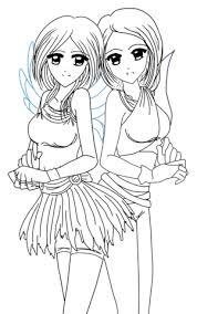 Yin En Yang Anime Tweelingen Kleurplaat Gratis Kleurplaten Printen