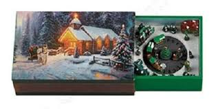 Animated Snow Scenes Thomas Kinkade Mini Animated Matchbook Music Box From Mr Christmas