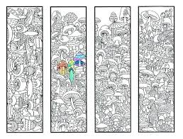 markers coloring pages coloring book markers coloring bookmarks mushroom bookmark coloring page for s and