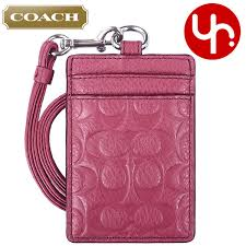 coach coach accessory card case review and next f63354 sunset red coach luxury embossed signature pebbled