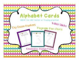 alphabet picture cards alphabet cards for wikki sticks and other manipulatives by mariah fuqua