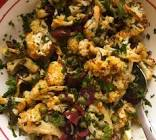 cauliflower with olives  capers and parsley