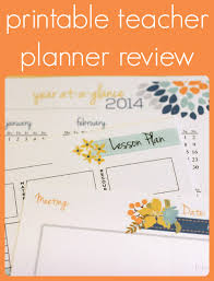 Printable Teacher Planner Review