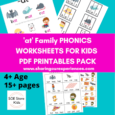 These free phonics worksheets explore the different ways that letters may sound. At Word Family Phonics Worksheets Pdf Downloadable Sharing Our Experiences