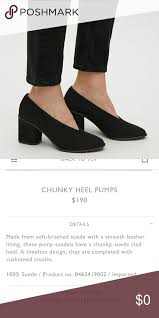 Cos Chunky Heel Pumps Currently For Sale On The Cos