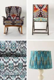 Denim Blue Ikat Upholstery Fabric  Light Blue Curtain Material Ikat Home Decor