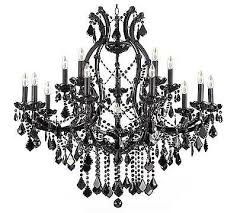 16 light black crystal chandelier foyer office dining or living room kitchen