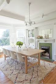 this polished dining room includes the norden extendable table in birch from ikea