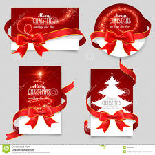 gift voucher coupon template red bow ribbons stock image gift cards red bows royalty stock photo
