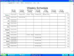 Blank Employee Schedule Template Weekly Work Excel Download