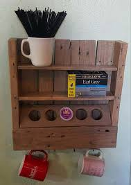 1001pallets com rustic coffee or tea shelf made