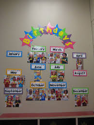 Birthday Charts For Preschool Classroom A Lovely Display To Celebrate Childrens Birthdays