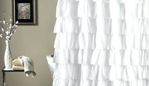 ticking stripe ruffled shower curtain white winsome target barn long shower bath lush linen grey ruffle
