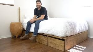 DIY PLATFORM BED WITH STORAGE Modern Builds