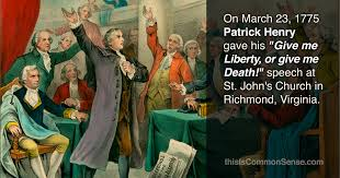 「Patrick Henry delivers his speech」の画像検索結果