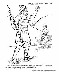 David And Goliath Old Testament Coloring Pages Bible Printables