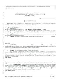 Real Estate Addendum Form Residential Purchase Contract Forms ...