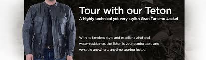 motorcycle leather jackets vanson teton tt2 european touring jacket