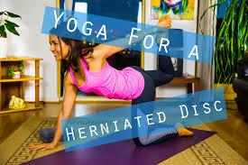 slip disc yoga