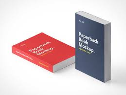 softcover paperback book front covers psd mockups