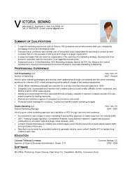 Resume Examples, Summary Of Qualifications Professional Experience Resume  Template Word 2013 Marketing Education Software Specified