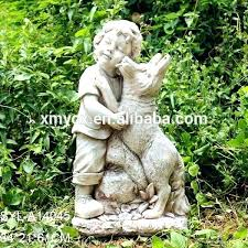 boy garden statues little boy fishing