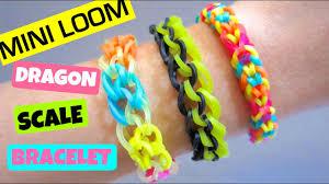 Mini Loom Designs Rainbow Loom Bracelet Dragon Scale With Mini Loom