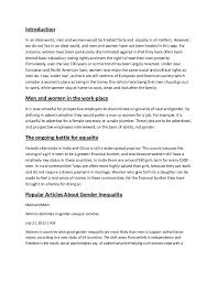 essays on gender equality sample essay on effects of gender  social inequality in america essay college paper service social inequality in america essay