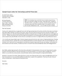 Example Of Internship Cover Letter Example Of Internship Cover Letter Magdalene Project Org