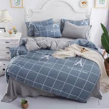 gray eiffel tower grid stripe duvet cover bedding sets single twin queen king size 3 geometric bedsheet pillowcase bedlinen red white and blue bedding sets