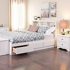 Amazon White Queen Mate s Platform Storage Bed with 6 Drawers