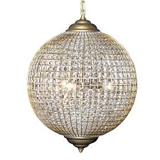 large glass and gold globe chandelier