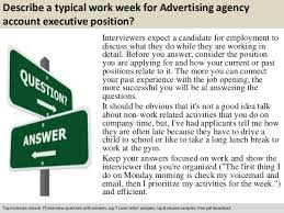 Advertising Agency Account Executive Interview Questions