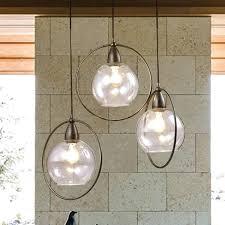 antique black 3 light glass iron loop pendant chandelier clear globe bistro 8