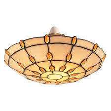 details about loxton jul12up2 amber jewel tiffany style uplighter pendant shade