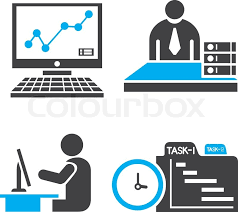 Office Icons Stock Vector Colourbox