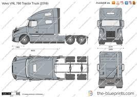 Volvo Vnl 760 Tractor Truck Vector Drawing
