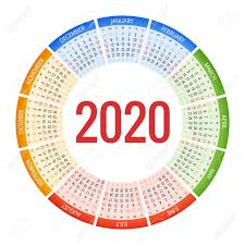 2020 Design Version 11 Colorful Round Calendar 2020 Design Print Template Your Logo