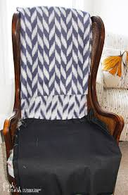 Learn How to Upholster a Chair   Wingback Chair Makeover