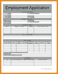 Generic Blank Job Application Free Employment Application Template Pdf Generic Employment