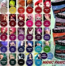 Manic Panic Hair Colour Chart Manic Panic Hair Dye Instructions