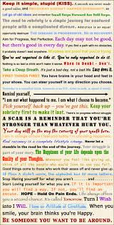 42 Motivational Recovery Slogans In A Word Collage