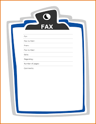fax cover page template microsoft word 5 word fax cover sheet itinerary template sample
